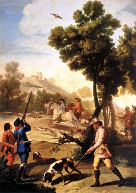 Goya, Francisco de: The Quail Shoot. Fine Art Print/Poster. Sizes: A4/A3/A2/A1 (001433)
